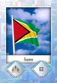 Guyana. Cromo 63