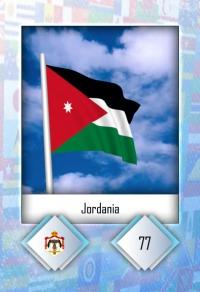 Jordania. Cromo 77