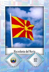 Macedonia del Norte. Cromo 92