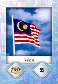 Malasia. Cromo 95