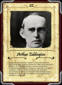 Cromo 22. Arthur Eddington